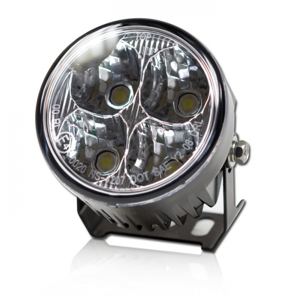 Daytime running lights motorcycle round 4 LED | mPartz.com