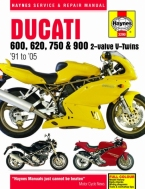 Workshop Manual Haynes Ducati 600, 620, 750 and 900 2valve 91-05