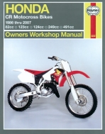 Workshop Manual Haynes Honda CR Motocross Bikes 86-01