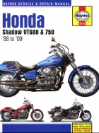 Workshop Manual Haynes Honda Shadow VT600 and 750 USA 88-09