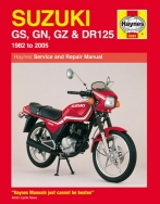 Workshop Manual Haynes Suzuki GS, GN, GZ and DR125 82-05