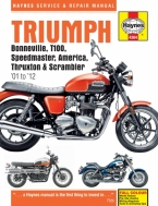 Workshop Manual Haynes Triumph Bonneville, America, Speedmaster 01-15