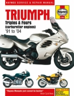 Workshop Manual Haynes Triumph Triples and Fours carburateur modellen 91-04